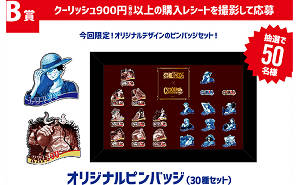 ONE PIECE クーリッシュ ピンバッジ