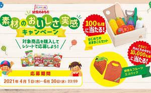 「はじめてのおままごとセット」「野菜&フルーツ エコバッグ」