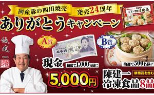 陳建一 現金5,000円
