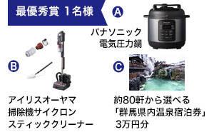 「パナソニック電気圧力鍋」「アイリスオーヤマ掃除機」